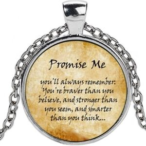 Jewelry - Inspirational Love Quote Glass Cabochon Necklace
